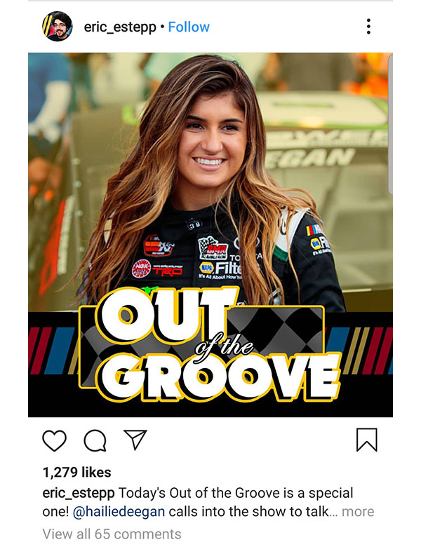 NASCAR Pole Position Out of the Groove Social Media