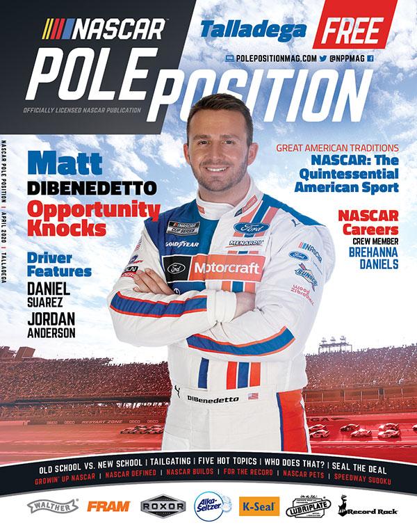 NASCAR Pole Position Talladega in April 2020