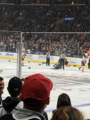 An epic fight broke out at the Kings (2) vs. Ducks (3) at the Staples Center, 3/5/2016
