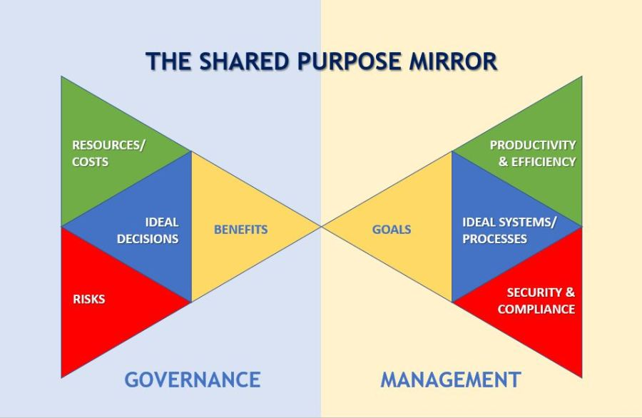 The shared purpose mirror:  Ideal decision and execution triangles