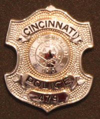 Police Officer Gary Weber's badge