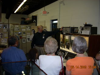Retired Cincinnati Lieutenant Steve Kramer is a very knowledgeable docent and currently serves as Museum Director.