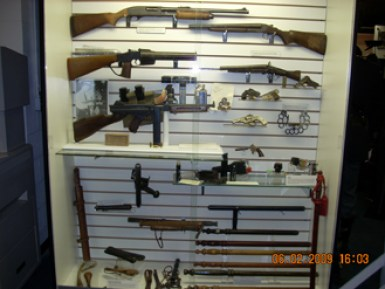 Weaponology- shows many of the weapons used by local law enforcement in doing their job everyday.