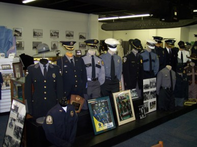 Modern uniforms of many of the 100+ police agencies represented by the Museum