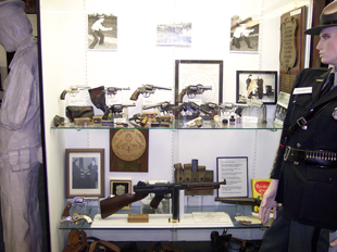 The museum has collected a sampling of the firearms used by area law enforcement from the 19th Century to present.