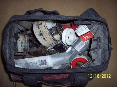 Craftsman tool bag with tools