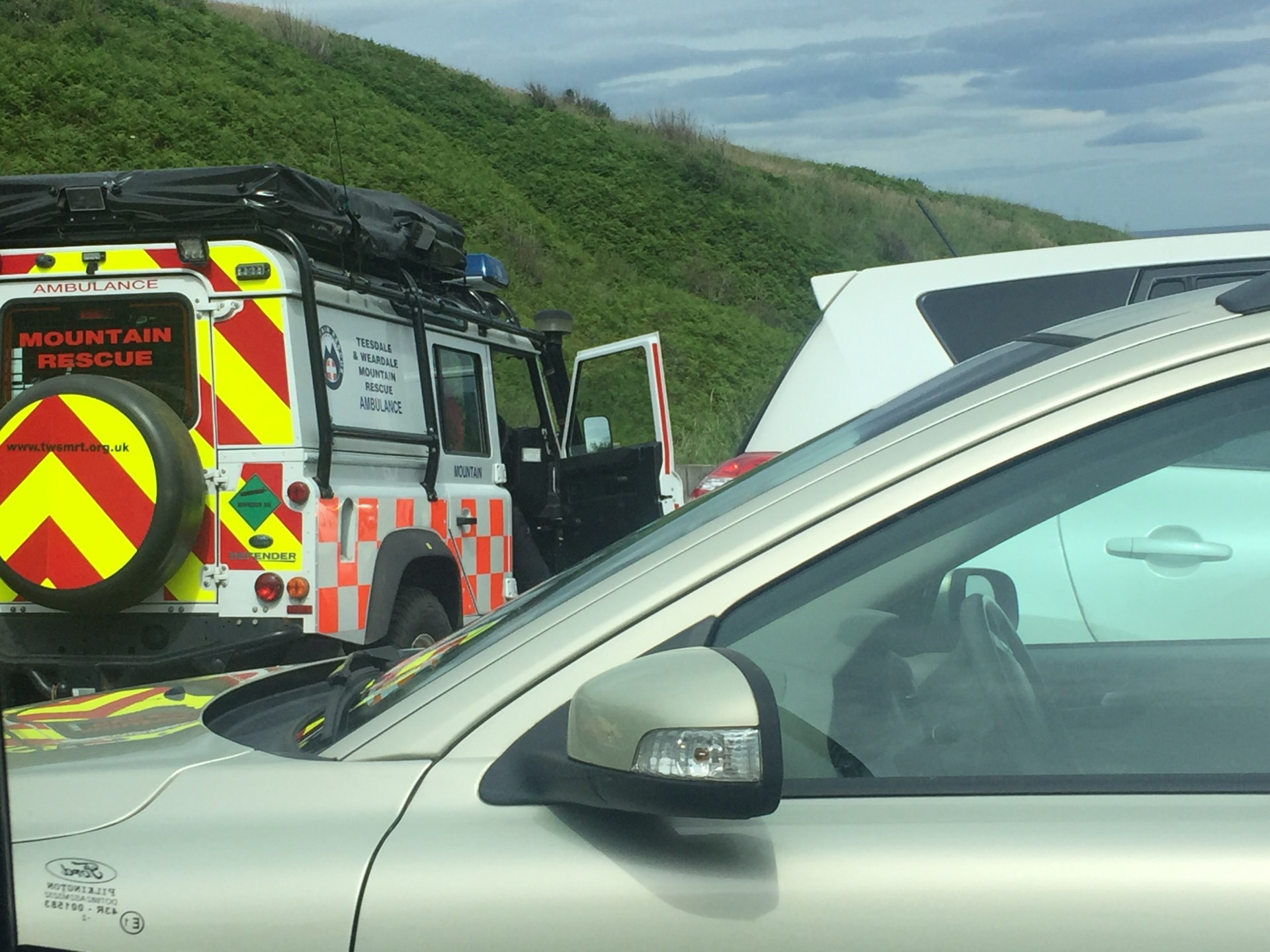 On going incident involving coastguard, police and mountain rescue In Horden 3