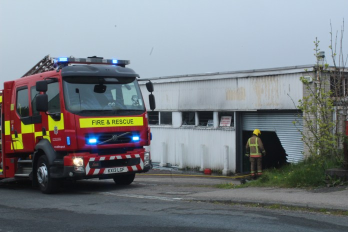Large Fire at North East Industrial Estate in Peterlee under control 1
