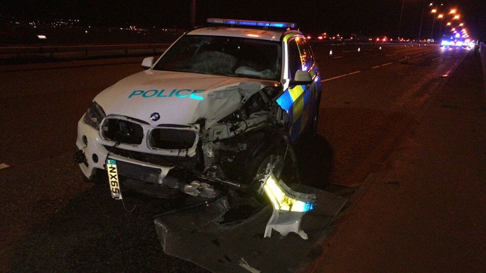 Police officers seriously injured after being rammed on A19 3