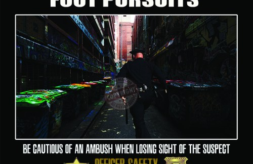 POLICE OFFICER FOOT PURSUIT SAFETY POSTER