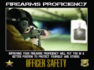 POLICE FIREARMS PROFIECIENCY POSTER