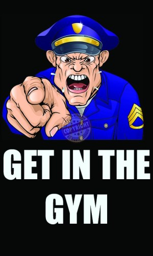 Police Workout Motivation Poster