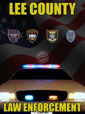 Lee County Florida Law Enforcement Poster