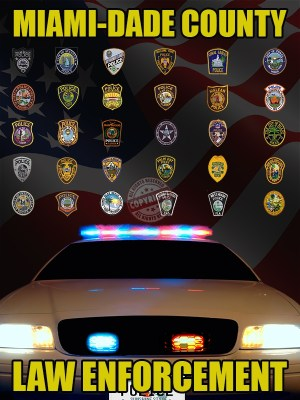 Miami-Dade County Florida Law Enforcement Poster