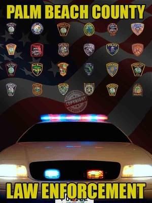 Palm Beach County Florida Law Enforcement Poster