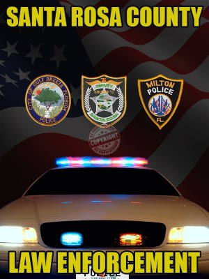 Santa Rosa County Florida Law Enforcement Poster
