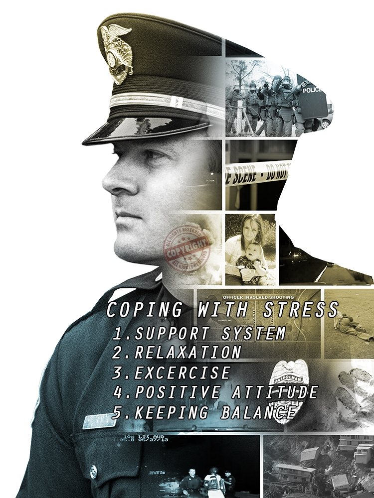Police Officer Stress Awareness Poster