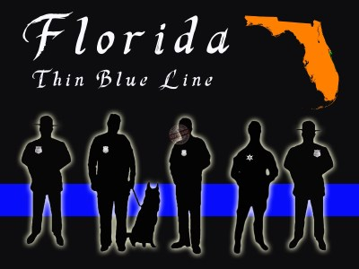 florida thin blue line poster