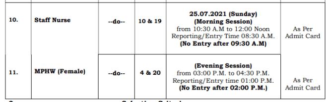 Haryana Staff Nurse Exam Date 2021