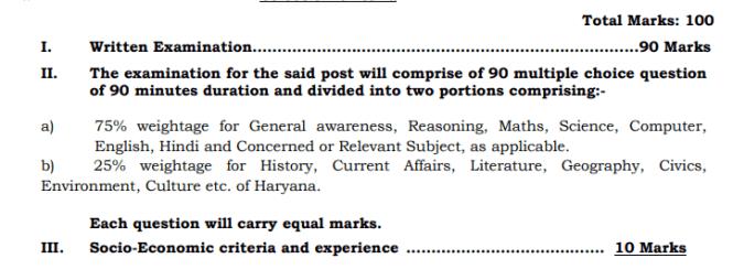 Haryana MPHW Selection Process 2021
