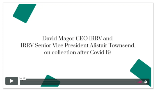 Image of Vimeo player featuring a webinar recording from IRRV on collecting council tax after COVID-19