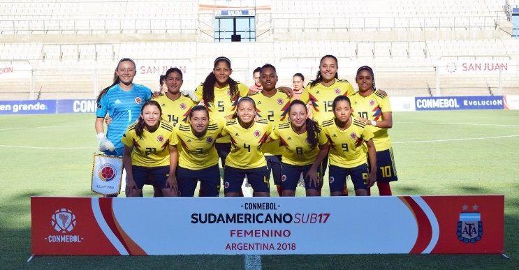 La selección colombiana femenina debutó con goleada en el sudamericano sub 17
