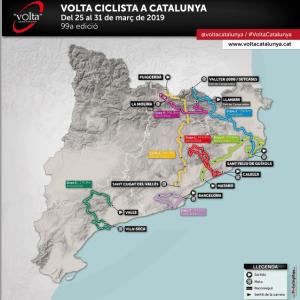 Mapa Vuelta Cataluña