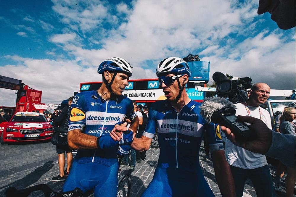 Rémi Cavagna ganó la etapa 19 de la Vuelta España, donde cayó el pelotón