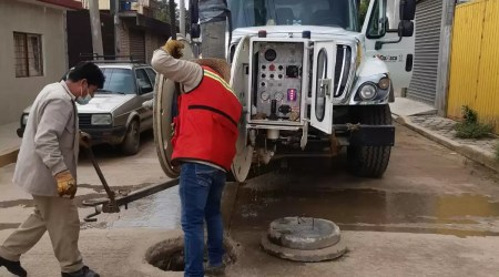 Ejecuta SAPAO acciones de saneamiento en colonia Nuevo México, San Jacinto Amilpas