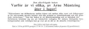 Sverigedemokraterna Bevara Sverige Svenskt Arne Müntzing