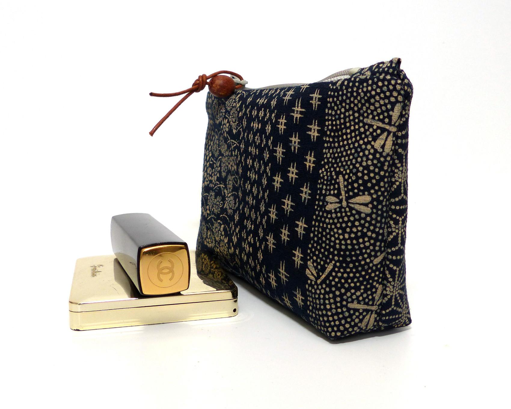 trousse sashiko tissu patchwork motifs japonais
