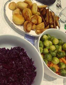 Roast potatoes Roast parsnips christmas dinner Polina Skrebneva blog