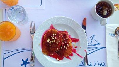 Grand Hotel Crete review pancakes