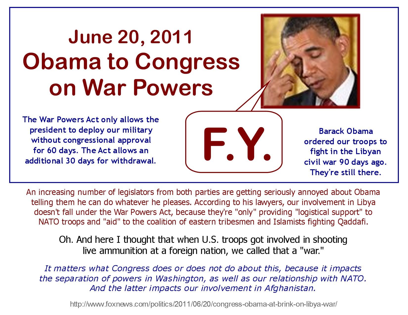 Obama To Congress F Y