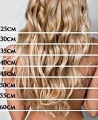 шкала измерения длины волос