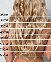 измерить длину волос