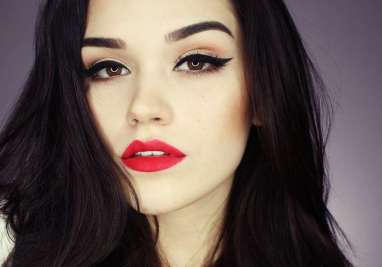 красный цвет помады атрибут голливудского макияжа