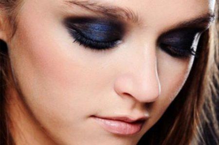 Макияж глаз минеральными тенями
