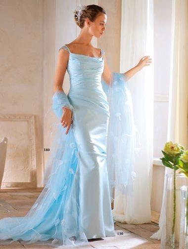 Свадебный образ невесты для свадьбы в голубом