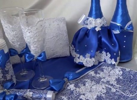 Свадьба в синем аксессуары