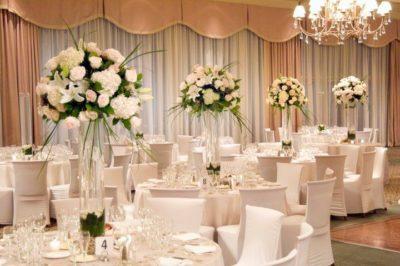Цветы на свадьбу в бело-зеленом цвете