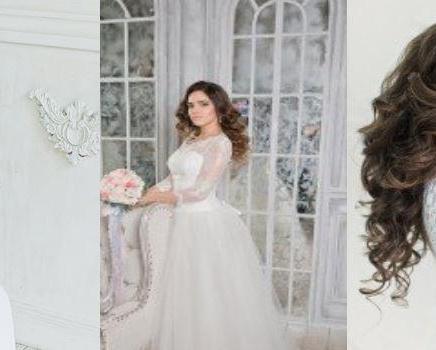 Свадебный макияж и свадебная прическа на дому
