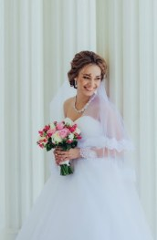 Прическа невесты в стиле рококо