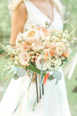 Букет невесты с эвкалиптом