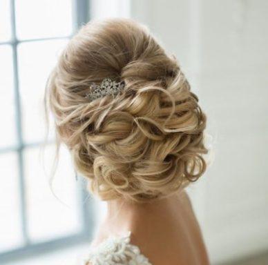Красивая свадебная укладка