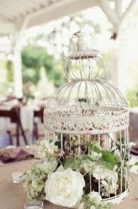 Украшение клеток на свадьбу цветами