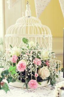 Клетки декор цветами