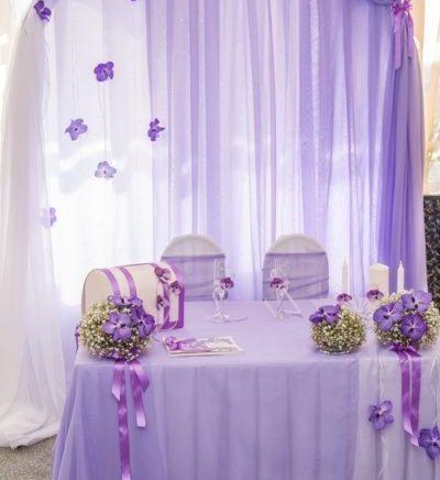 Оформление свадебного зала в серо-голубом цвете цена
