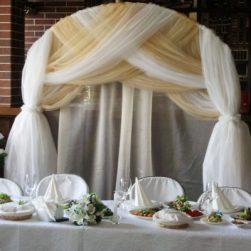 Оформление свадебного зала в золотом цвете стоимость