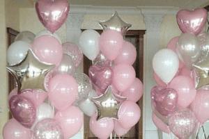 Оформление свадьбы воздушными шарами Лобня